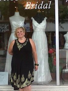 not actually buying a wedding dress....but having some shopping fun