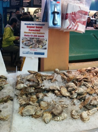 oysters at St. Lawrence market