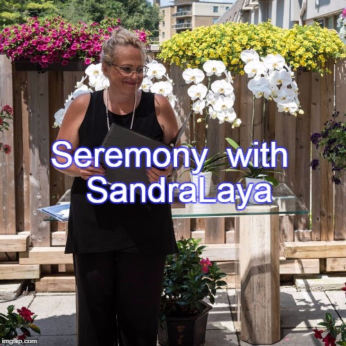 Seremony with SandraLaya website